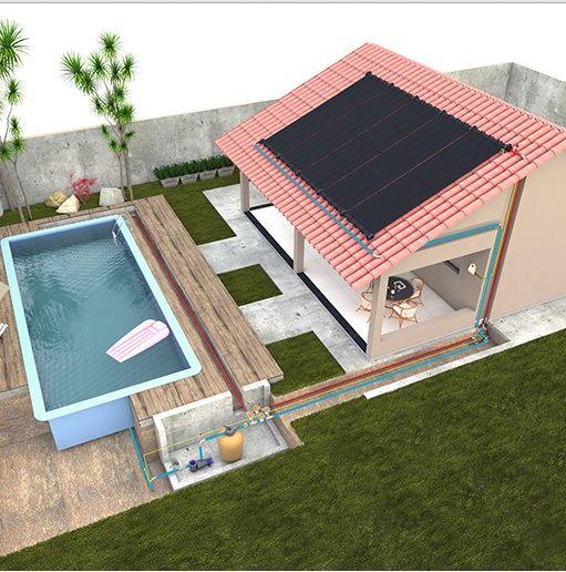 Aquecedor solar piscina 300cm x 120cm 3 6 metro quadrado for Piscinas soria